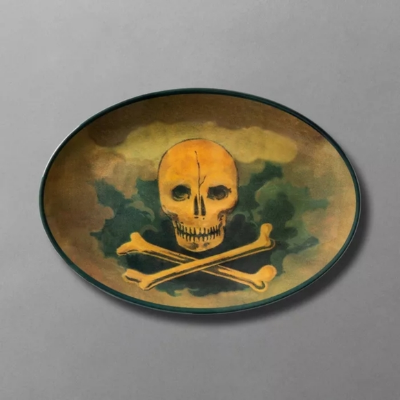 Skull & Crossbones Melamine Serving Dish
